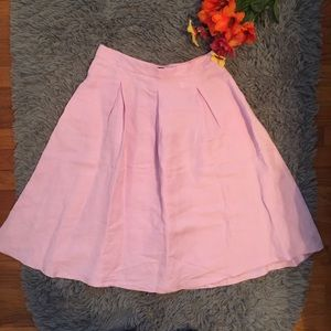 Zara Skirt Pleated A-line with Pockets. Size M